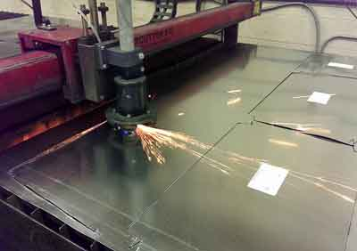 Plasma Cutter Cutting Custom Made Ductwork